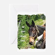 Smiling Mule Greeting Card