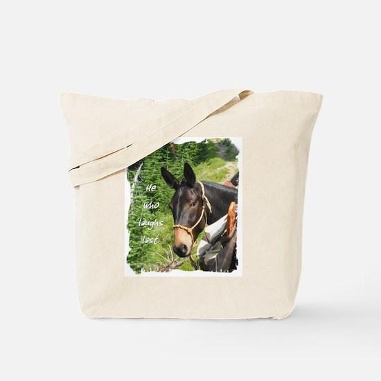 Smiling Mule Tote Bag