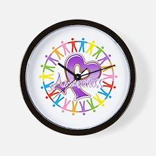Alzheimers Unite Awareness Wall Clock