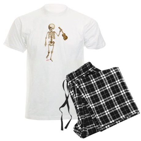Ukulele Skeleton Men's Light Pajamas