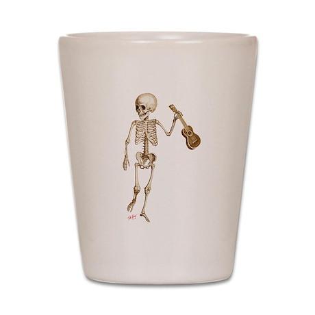 Ukulele Skeleton Shot Glass