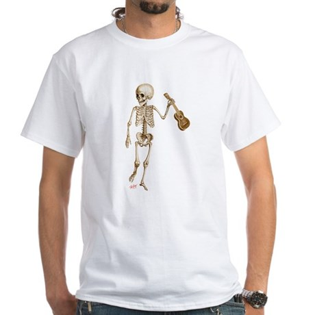 Ukulele Skeleton White T-Shirt