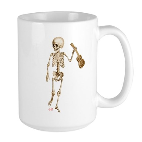 Ukulele Skeleton Large Mug
