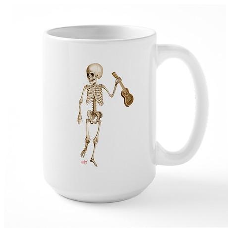 Ukulele Skeleton Large Mug