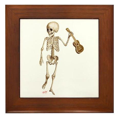 Ukulele Skeleton Framed Tile