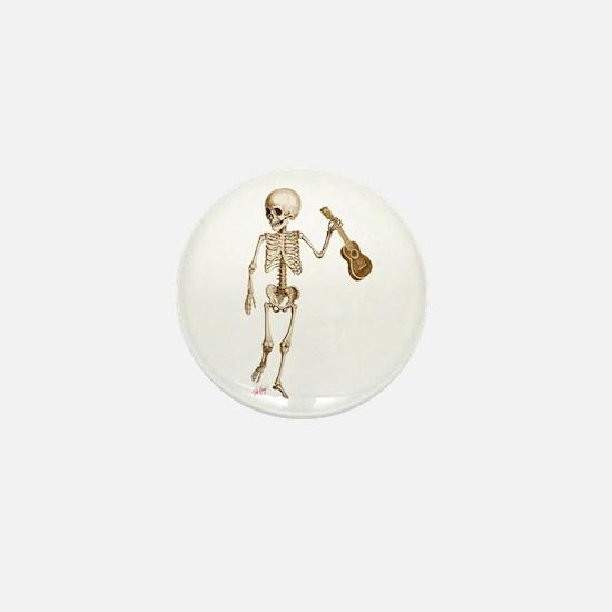 Ukulele Skeleton Mini Button