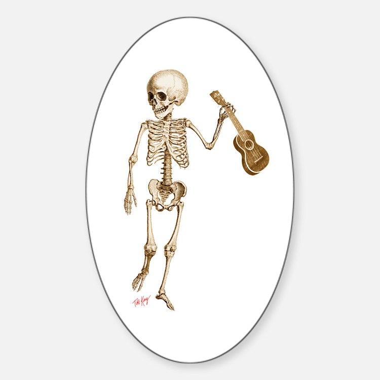 Ukulele Skeleton Decal