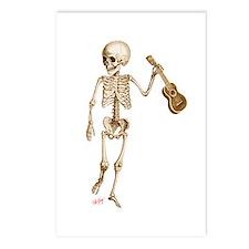 Ukulele Skeleton Postcards (Package of 8)