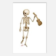 Ukulele Skeleton Postcards (Package of 8)
