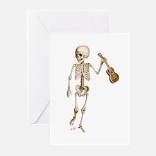 Ukulele Skeleton Greeting Cards (Pk of 20)