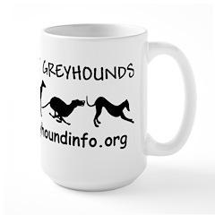 Large AllAboutGreyhounds Mug with Black Image