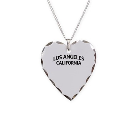 Los Angeles California Necklace Heart Charm
