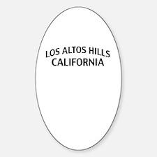 Los Altos Hills California Sticker (Oval)