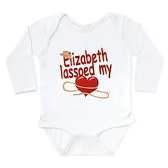 Elizabeth Lassoed My Heart Long Sleeve Infant Body