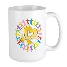 Childhood Cancer Awareness Ceramic Mugs