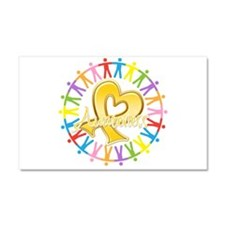 Childhood Cancer Awareness Car Magnet 20 x 12