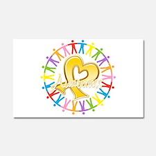 Childhood Cancer Awareness Car Magnet 20 x 12