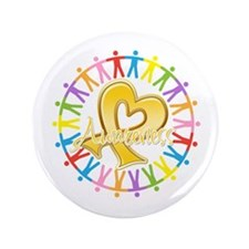 """Childhood Cancer Awareness 3.5"""" Button (100 pack)"""