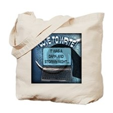 Cute Books and laptop Tote Bag