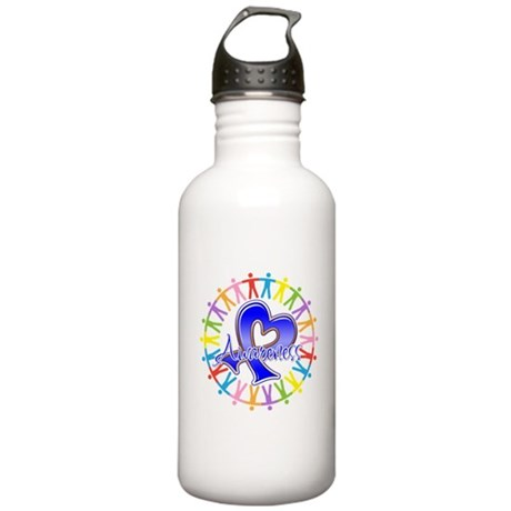 Colon Cancer Unite Awareness Stainless Water Bottl