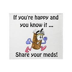 Share Your Meds Throw Blanket