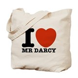 I heart mr darcy Canvas Totes