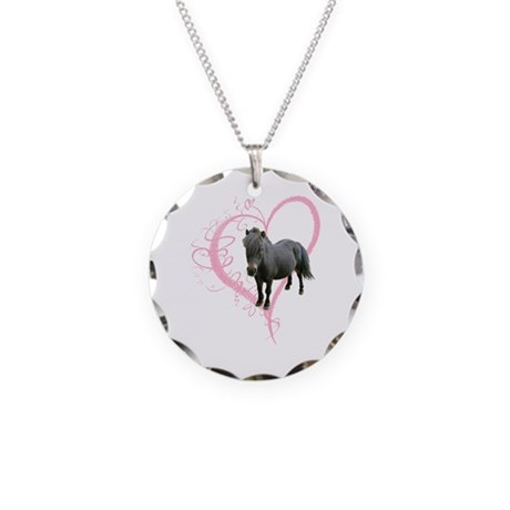 Cute little Pony Necklace Circle Charm