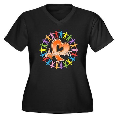 Leukemia Unite Awareness Women's Plus Size V-Neck