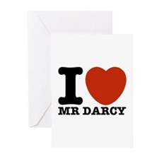 I Love Darcy - Jane Austen Greeting Cards (Pk of 1