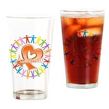 Leukemia Unite Awareness Drinking Glass