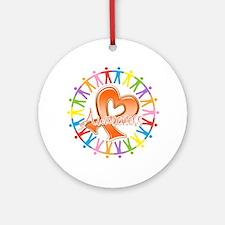 Leukemia Unite Awareness Ornament (Round)