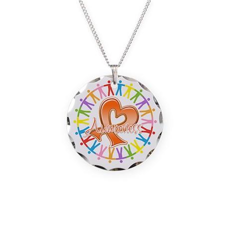 Leukemia Unite Awareness Necklace Circle Charm