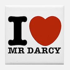 I Love Darcy - Jane Austen Tile Coaster