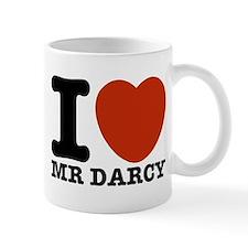 I Love Darcy - Jane Austen Small Mug
