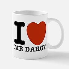 I Love Darcy - Jane Austen Small Small Mug