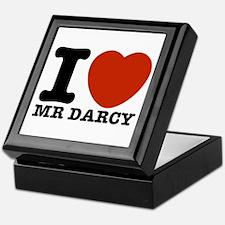 I Love Darcy - Jane Austen Keepsake Box