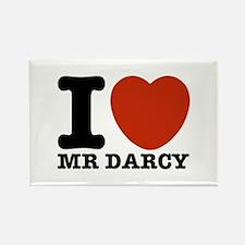 I Love Darcy - Jane Austen Rectangle Magnet