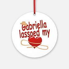 Gabriella Lassoed My Heart Ornament (Round)