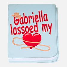 Gabriella Lassoed My Heart baby blanket