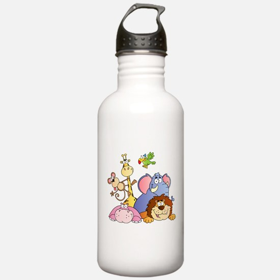 Jungle Animals Water Bottle