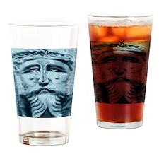 Blue Jesus Drinking Glass