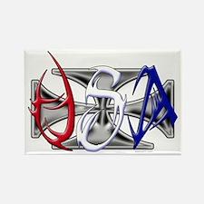 USA Tribal Rectangle Magnet
