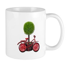 Bicycle Leaning on Potted Tre Mug