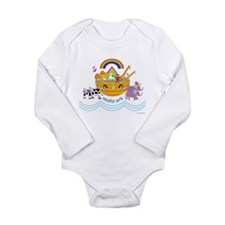 Noah's Ark Animal Long Sleeve Infant Bodysuit