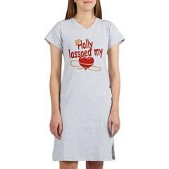 Holly Lassoed My Heart Women's Nightshirt