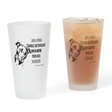 Spay Neuter DOGFIGHTERS Drinking Glass