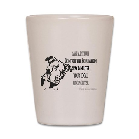Spay Neuter DOGFIGHTERS Shot Glass