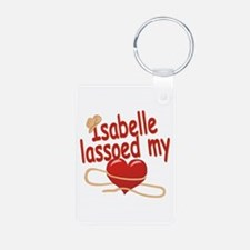 Isabelle Lassoed My Heart Aluminum Photo Keychain