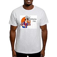 JEWISH SHALOM Y'ALL Ash Grey T-Shirt