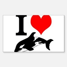 I Heart Whales Decal
